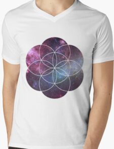 Cosmic Seed of Life Mens V-Neck T-Shirt