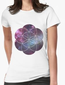 Cosmic Seed of Life Womens Fitted T-Shirt