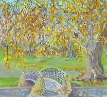 Autumn in Rymil Park. by Kay Cunningham
