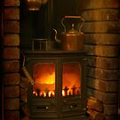Winter Warmth Woodburner by Gazart