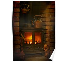 Winter Warmth Woodburner Poster