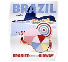 Brazil Vintage Travel Poster Restored Poster
