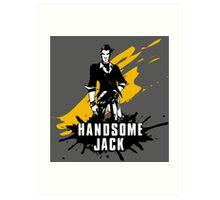 Handsome Jack (Colored BG) Art Print