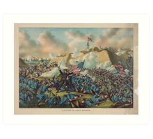 Civil War Capture of Fort Fisher January 15 1865 Art Print