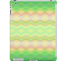 Green-Rose Waves iPad Case/Skin