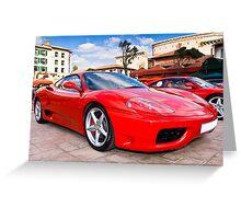 Ferrari Show Day - 360 Modena Greeting Card
