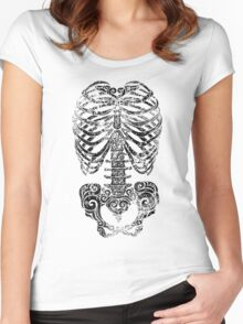 Swirly Bones Women's Fitted Scoop T-Shirt