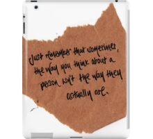 Thought of the day iPad Case/Skin