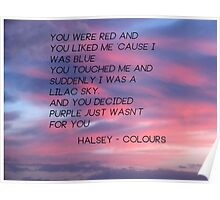 colours lyrics Poster