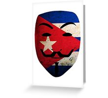 Anonymous Cuba T Shirts, Stickers and Other Gifts Greeting Card