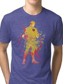 Supervillian Splatter Art Tri-blend T-Shirt