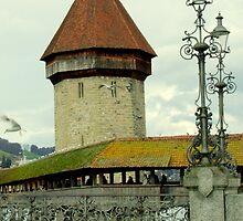 The old Kapellbrücke (Chapel Bridge), Lucerne (Luzern), Switzerland by Fineli