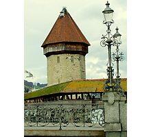 The old Kapellbrücke (Chapel Bridge), Lucerne (Luzern), Switzerland Photographic Print