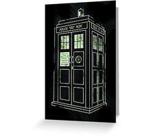 TARDIS. Greeting Card