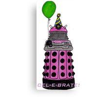 Pink and Festive Dalek. Canvas Print