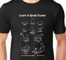 Learn to Speak Ciyawo (black animals white text) Unisex T-Shirt