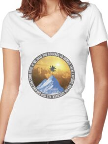 Explore. Dream. Discover. Women's Fitted V-Neck T-Shirt