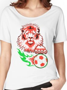 African Soccer Lion Women's Relaxed Fit T-Shirt