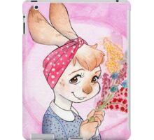Bunny girl with flowers iPad Case/Skin