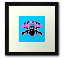 Keeping Cops Busy Framed Print