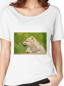 Arctic Wolf Pup Women's Relaxed Fit T-Shirt