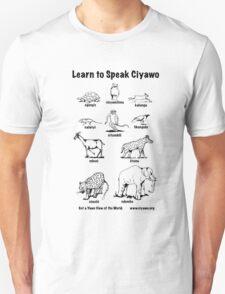 Learn to Speak Ciyawo (black outline only) Unisex T-Shirt