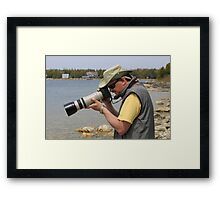 The Photographer in Action Framed Print