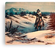 Ridin' Fences Canvas Print