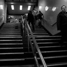People on Stairs 3 by Andrew  Makowiecki