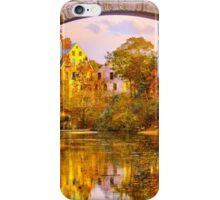 Fall at Upper Falls, Massachusetts. Echo Bridge iPhone Case/Skin