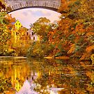 Fall at Upper Falls, Massachusetts. Echo Bridge by LudaNayvelt
