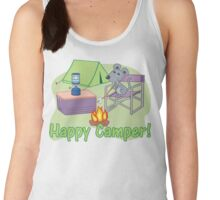 Happy Camper! Mouse Roasting Marshmallows Women's Tank Top