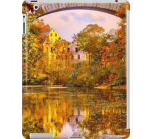 Fall at Upper Falls, Massachusetts. Echo Bridge iPad Case/Skin