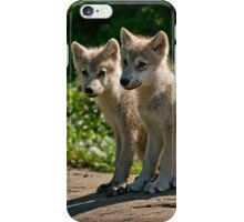 Arctic Wolf Pups iPhone Case/Skin