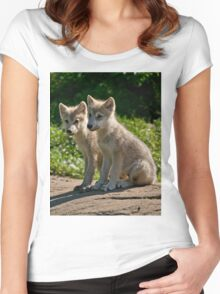 Arctic Wolf Pups Women's Fitted Scoop T-Shirt