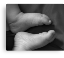 Can you hear the pittle pattle of little feet? Canvas Print