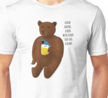 Bear, beer, bird, beard Unisex T-Shirt