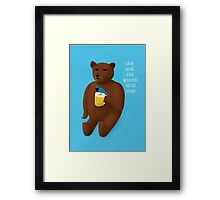 Bear, beer, bird, beard Framed Print