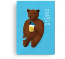 Bear, beer, bird, beard Canvas Print