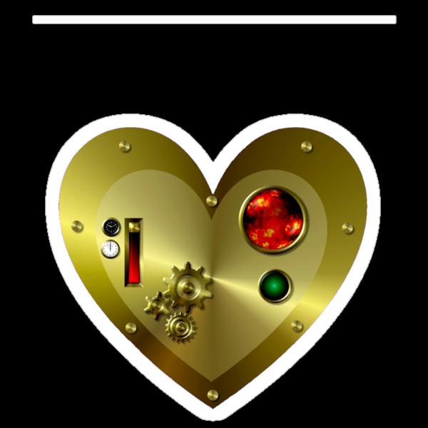 Steampunk Valentine's Day Heart by SpikeysStudio