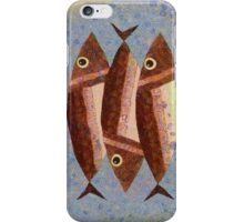 THREE CAREFREE FISH iPhone Case/Skin