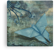 Origami Butterfly Canvas Print