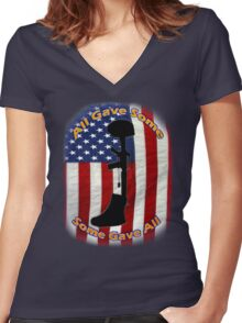 All Gave Some... Some Gave All Women's Fitted V-Neck T-Shirt