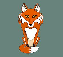 STARING FOX by Jean Gregory  Evans