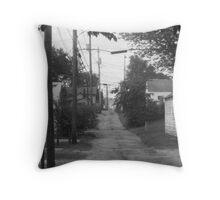 Alleyway - Lancaster, Ohio Throw Pillow