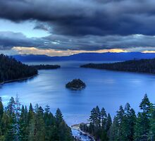 Spring evening at Emerald Bay by Justin Baer