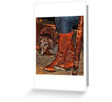 Boots and Buddy Painted Greeting Card