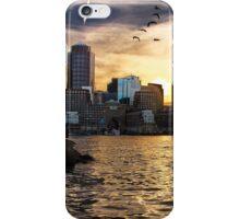 Boston Harbor at Sunset iPhone Case/Skin