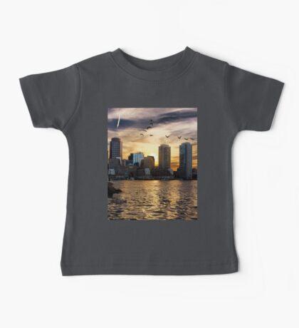 Boston Harbor at Sunset Baby Tee