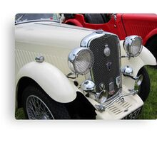 White & Red Singer classic cars Canvas Print